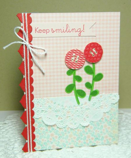 Papertrey Ink - Keep Smiling Posies2 by Melissa Bickford